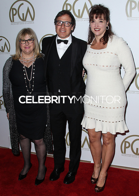 BEVERLY HILLS, CA - JANUARY 19: Janet Grillo, David O. Russell, Colleen Camp at the 25th Annual Producers Guild Awards held at The Beverly Hilton Hotel on January 19, 2014 in Beverly Hills, California. (Photo by Xavier Collin/Celebrity Monitor)
