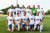 Boston Breakers starting XI. Sky Blue FC defeated the Boston Breakers 5-1 during a National Women's Soccer League (NWSL) match at Yurcak Field in Piscataway, NJ, on June 1, 2013.