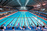 Picture by Allan McKenzie/SWpix.com - 05/08/2017 - Swimming - Swim England National Summer Meet 2017 - Ponds Forge International Sports Centre, Sheffield, England - The womens 12/13 yrs 100m backstroke final sets off, general view, GV.