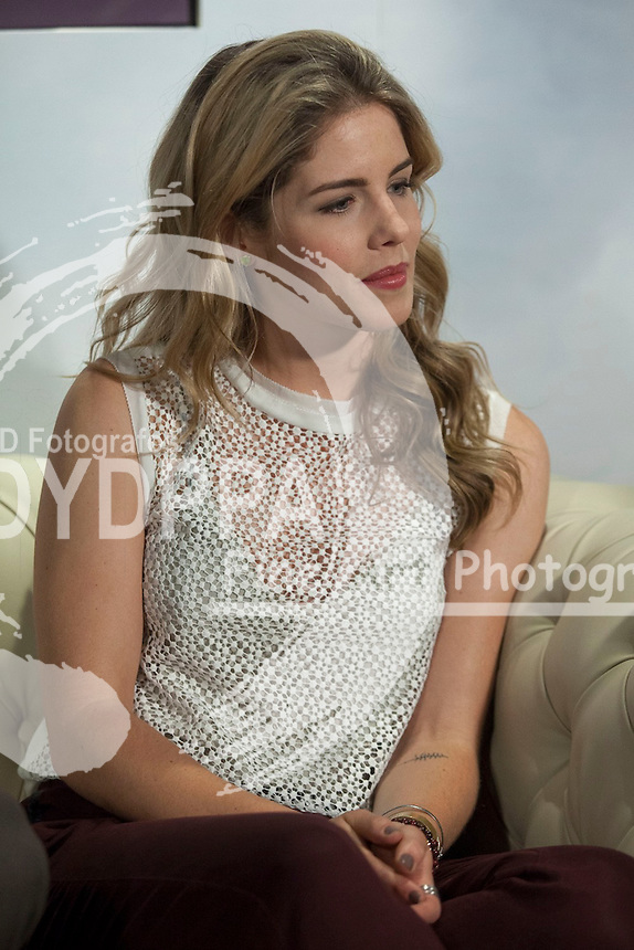 "The actress Emily Bett Rickards attends the fan event of the tv shows ARROW and THE 100, at the ""ATRESMEDIA CAFE""   in Madrid, Spain. Jun 9, 2014. Photo by Nacho lopez/ DyD Fotografos-DYDPPA"
