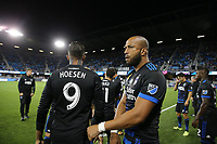 San Jose, CA - Saturday September 30, 2017: Victor Bernardez during a Major League Soccer (MLS) match between the San Jose Earthquakes and the Portland Timbers at Avaya Stadium.