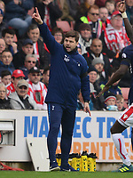 Manager of Tottenham, Mauricio Pochettino  during the EPL - Premier League match between Chelsea and West Ham United at Stamford Bridge, London, England on 8 April 2018. Photo by PRiME Media Images.