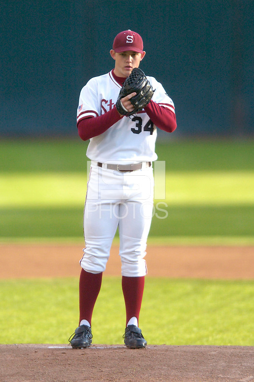 20 February 2007: Stanford Cardinal Tom Stilson during Stanford's 4-1 win against the San Francisco Dons at Sunken Diamond in Stanford, CA.