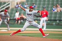 Lakewood BlueClaws relief pitcher Manny Martinez (30) in action against the Kannapolis Intimidators at CMC-Northeast Stadium on May 17, 2015 in Kannapolis, North Carolina.  The Intimidators defeated the BlueClaws 4-1.  (Brian Westerholt/Four Seam Images)