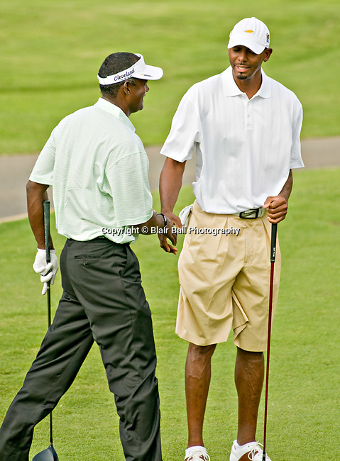 Vijay Singh and Penny Hardaway at Stanford St. Jude in Memphis.
