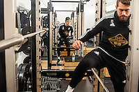 Thursday  21 January 2016<br /> Pictured:  Federico Fernandez of Swansea during training<br /> Re: Swansea City Training Session at the Fairwood training ground
