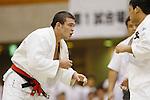 (L-R) Wolf Aaron, Ryutaro Goto, September 14, 2014 - Judo : All Japan Junior Judo Championships Men's -100kg Final at Saitama Prefectural Budokan, Saitama, Japan. (Photo by Yusuke Nakanishi/AFLO SPORT) [1090]