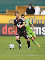 DC United defender Daniel Woolard (21)    DC United defeated The Seattle Sounders 2-1 at  RFK Stadium, Wednesday May 4, 2011.