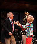 """Peggy J. Scott and Malachy Cleary in """"Other Desert Cities"""" at the tech rehearsal (in costume) on October 14, 2015 at Whippoorwill Halll Theatre, North Castle Library, Kent Place, Armonk, New York.  (Photo by Sue Coflin/Max Photos)"""