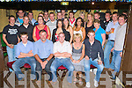 Neil O'Leary Ballyfinnane seated centre celebrates his 21st birthday with his family and friends in the Shanty bar, Ballyfinnane on Friday night