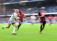 Canada's John Moonlight scores his sides second try <br /> <br /> Canada Vs Uganda - Men's Rugby Sevens Bowl semi-final 1<br /> <br /> Photographer Chris Vaughan/CameraSport<br /> <br /> 20th Commonwealth Games - Day 4 - Sunday 27th July 2014 - Rugby Sevens - Ibrox Stadium - Glasgow - UK<br /> <br /> © CameraSport - 43 Linden Ave. Countesthorpe. Leicester. England. LE8 5PG - Tel: +44 (0) 116 277 4147 - admin@camerasport.com - www.camerasport.com