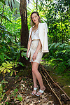 Sunday Mail fashion with Mirella , Tropical Summer White inspired fashions, on location Adelaide Botanic Gardens. Photo: Nick Clayton