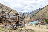 Derelict miners cabin on the River of No Return (Salmon River) in Central Idaho.