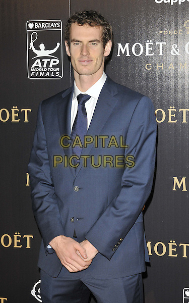 Andy Murray.attended the Barclays ATP World Tour Finals official launch party, Battersea Power Station, Cringle St., London, England, UK, 17th November 2011..half length blue suit tie white shirt .CAP/CAN.©Can Nguyen/Capital Pictures.