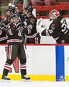 Nick Lappin (Brown - 28) - The Harvard University Crimson defeated the Brown University Bears 4-3 to sweep their first round match up in the ECAC playoffs on Saturday, March 7, 2015, at Bright-Landry Hockey Center in Cambridge, Massachusetts.