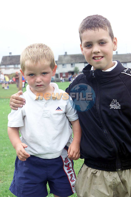 Jason Sheilds and Aaron Callan at the kids party in Beach Drive Park, Dunleer..Picture Paul Mohan Newsfile