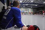 MANNHEIM, DEUTSCHLAND, FEBRUAR 01: Viertelfinale in der 1. Hockey Bundesliga der Herren, Hallensaison 2013/2014. Begegnung zwischen dem Mannheimer HC (blau) und RW Köln (rot) am 01. Februar, 2013 in der Irma-Röchling-Halle in Mannheim, Deutschland. Endstand 4-6. (4-1) (Photo by Dirk Markgraf / www.265-images.com) *** Local caption *** #30 Victor Aly von RW Köln