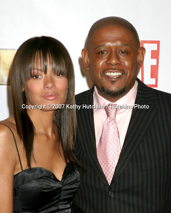 Forest Whitaker and wife Keisha.12th Annual Critics' Choice Awards - Arrivals.Santa Monica Civic Center.Santa Monica, California United States.January 12, 2007.©2007 Kathy Hutchins / Hutchins Photo.