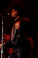 James Brown, circa 1986<br /> <br /> possiblement le 4 juillet 1986 au Festival de Jazz.<br /> <br /> PHOTO :  Agence Quebec Presse