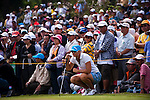 Anna Nordqvist of Sweden lines up a putt on the the 1st green during day one of the Sunrise LPGA Taiwan Championship 2011 at the Sunrise Golf & Country Club on 20 October 2011 in Tao Yuan, Taiwan. Photo by Victor Fraile / The Power of Sport Images