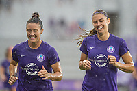 Orlando, FL - Saturday July 01, 2017: Ali Krieger, Alex Morgan before a regular season National Women's Soccer League (NWSL) match between the Orlando Pride and the Chicago Red Stars at Orlando City Stadium.