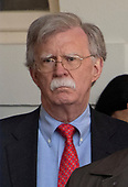 National Security Advisor John R. Bolton looks on as United States President Donald J. Trump announces a bipartisan agreement to reopen the federal government for a three week period in the Rose Garden of the White House in Washington, DC on January 25, 2019.  The President expressed his hope that Congressional leaders would come together to pass legislation that will result in border security.<br /> Credit: Ron Sachs / CNP