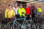 MEMORIAL CYCLE: Taking part in the Jimmy Duffy memorial cycle at Blennerville on Saturday were Graham Harris,  Risteard Pierce, Aileen Clifford, David Elton and Pat Keoghan