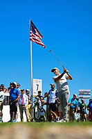 Alex Noren (SWE) watches his tee shot on 7 during round 5 of the World Golf Championships, Dell Technologies Match Play, Austin Country Club, Austin, Texas, USA. 3/25/2017.<br /> Picture: Golffile | Ken Murray<br /> <br /> <br /> All photo usage must carry mandatory copyright credit (&copy; Golffile | Ken Murray)