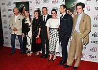 """16 November 2019 - Hollywood, California - (L-R) Charles Dance, Erin Doherty, Helena Bonham Carter, Peter Morgan, Olivia Colman, Tobias Menzies, Josh O'Connor. AFI FEST 2019 Presented By Audi – """"The Crown"""" Premiere held at TCL Chinese Theatre. Photo Credit: Billy Bennight/AdMedia"""
