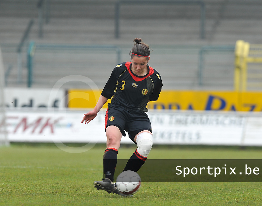 UEFA Women's Under 17 Championship - Second Qualifying round - group 1 : Switzerland - Belgium  : .Elien Van Wynendaele.foto DAVID CATRY / Vrouwenteam.be