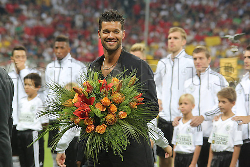 06.09.2013. Allianz Arena, Munich, Germany.  Michael Ballack is honoured for his work for the national team at the game between Germany vs Austria World Cup Qualification Alliance Arena Munich
