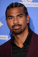 LONDON, UK. September 21, 2018: David Haye at the National Lottery Awards 2018 at the BBC Television Centre, London.<br /> Picture: Steve Vas/Featureflash