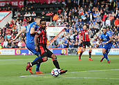 30th September 2017, Vitality Stadium, Bournemouth, England; EPL Premier League football, Bournemouth versus Leicester; Jermain Defoe of Bournemouth forces a save from Leicester Goalkeeper Kasper Schmeichel