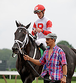 Icetate wins first race at saratoga, aug. 23, 2009