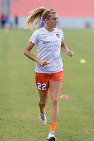 Houston, TX - Sunday June 19, 2016: Stephanie Ochs prior to a regular season National Women's Soccer League (NWSL) match between the Houston Dash and FC Kansas City at BBVA Compass Stadium.