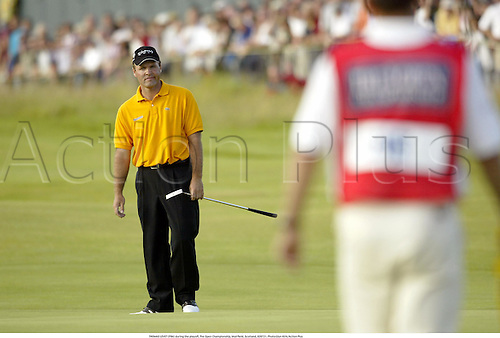 THOMAS LEVET (FRA) during the playoff, The Open Championship, Muirfield, Scotland, 020721. Photo:Glyn Kirk/Action Plus...Golf.2002
