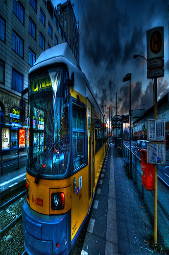 Surreal HDR of Berlin city, shot early evening