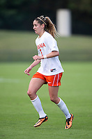 Morgan Brian (6) of Virginia looks for the ball during the game at Klockner Stadium in Charlottesville, VA.  Virginia defeated Maryland, 1-0.