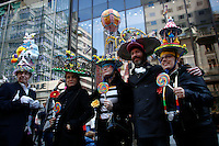 people pose for a picture as they take part during the annual easter parade in Manhattan, New York, 03.27.2016. This annual tradition has been taking place in New York City for over 100 years, Photo by VIEWpress.