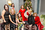 Kitty Walsh, Denise Fogarty, Kelly Robins, Lorraine Scollard, kiara herlihy, Mary Ann Dennehy, Teresa Walker, Noreen O'Neill  enjoying the Lee Strand Christmas Party at the Rose Hotel on Saturday