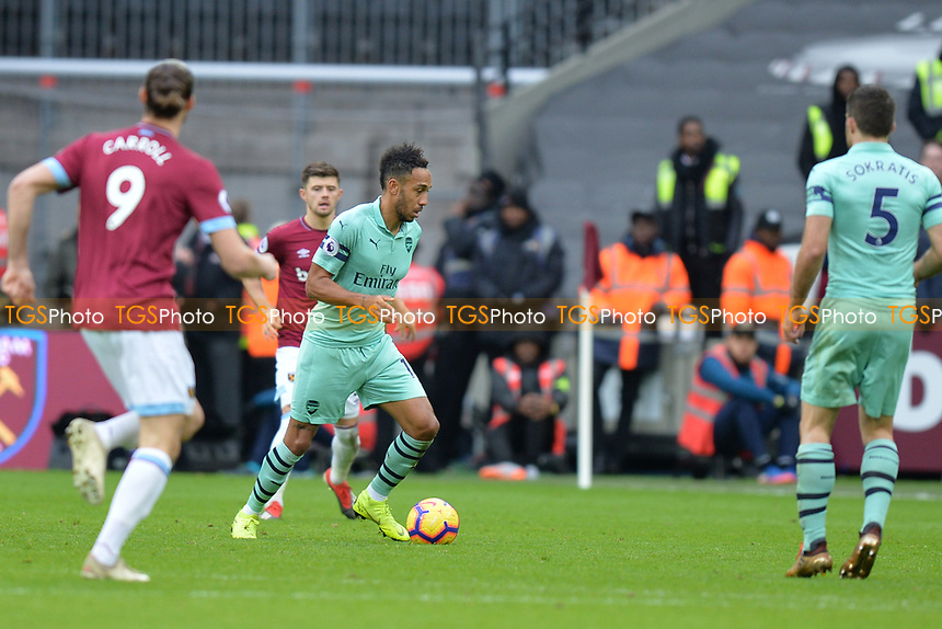 Alex Iwobi of Arsenal during West Ham United vs Arsenal, Premier League Football at The London Stadium on 12th January 2019