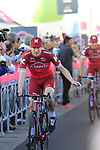 Team Katusha Alpecin at the Team Presentation in Alghero, Sardinia for the 100th edition of the Giro d'Italia 2017, Sardinia, Italy. 4th May 2017.<br /> Picture: Eoin Clarke | Cyclefile<br /> <br /> <br /> All photos usage must carry mandatory copyright credit (&copy; Cyclefile | Eoin Clarke)