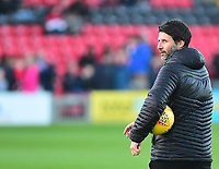 Lincoln City manager Danny Cowley during the pre-match warm-up<br /> <br /> Photographer Andrew Vaughan/CameraSport<br /> <br /> The EFL Sky Bet League Two - Lincoln City v Port Vale - Tuesday 1st January 2019 - Sincil Bank - Lincoln<br /> <br /> World Copyright © 2019 CameraSport. All rights reserved. 43 Linden Ave. Countesthorpe. Leicester. England. LE8 5PG - Tel: +44 (0) 116 277 4147 - admin@camerasport.com - www.camerasport.com