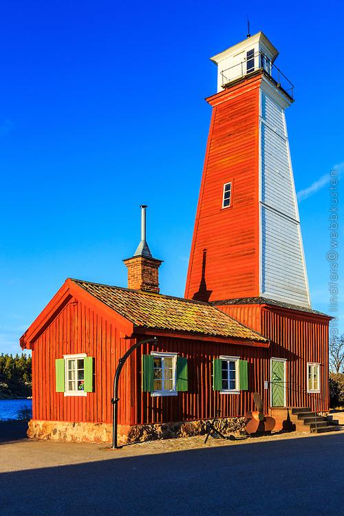Det gamla fyrtornet med sin fyrvaktarbostad vid Bönan i Gävle