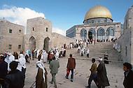 Jerusalem, Israel, November, 1980. General view of the Al-Asqa Mosque.