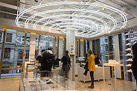 Customization station in the new Nike flagship store on opening day in Soho in New York on Friday, November 18, 2016. Nike is the largest global athletic shoe and clothing maker. (© Richard B. Levine)