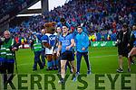 Diarmuid Connolly Dublin players celebrate in the Kerry v Dublin All Ireland Senior Football Final in Croke Park on the 20th September 2015.