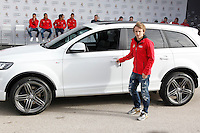 Modric participates and receives new Audi during the presentation of Real Madrid's new cars made by Audi in Madrid. December 01, 2014. (ALTERPHOTOS/Caro Marin) /Nortephoto