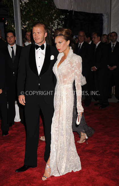 WWW.ACEPIXS.COM . . . . . ....May 5 2008, New York City....David Beckham and Victoria Beckham arriving at the Metropolitan Museum of Art Costume Institute Gala, Superheroes: Fashion and Fantasy, held at the Metropolitan Museum of Art on the Upper East Side of Manhattan.....Please byline: KRISTIN CALLAHAN - ACEPIXS.COM.. . . . . . ..Ace Pictures, Inc:  ..(646) 769 0430..e-mail: info@acepixs.com..web: http://www.acepixs.com