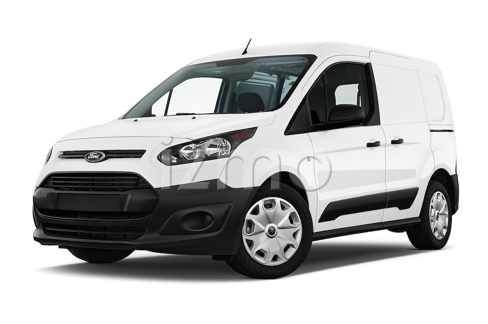 Stock pictures of low aggressive front three quarter view of 2016 Ford Transit-Connect Van-XL-SWB-(Rear-Liftgate) 5 Door Mini MPV Low Aggressive